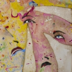 Hold On, mixed media on canvas, 65 x 45 cm, 25.5 x 18 in, 2013