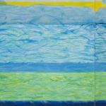 Villingili 1, mixed media on canvas, 80 x 100 cm, 31.5 x 39 in, 2016