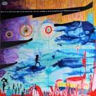 Cloud Walker_mixed media on canvas_90 x 90 cm_35 x 35 in_2017