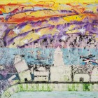 Makes My Eyes Rain_mixed media on canvas_90 x 110 cm_35 x 43 in_2014