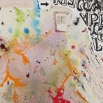 Es war einmal, mixed media on canvas, 35.5 x 35.5 in, 2015
