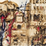 Golden City 1, mixed media on paper, 27.5 x 39 in, 2007