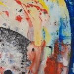 Mark I, mixed media on canvas, 27.5 x 27.5 in, 2014