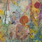 Scene One, mixed media on canvas, 90 x 90 cm, 2016